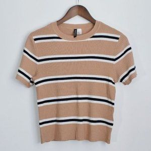💰3/20$💰H&M Striped short sleeves crop knit top